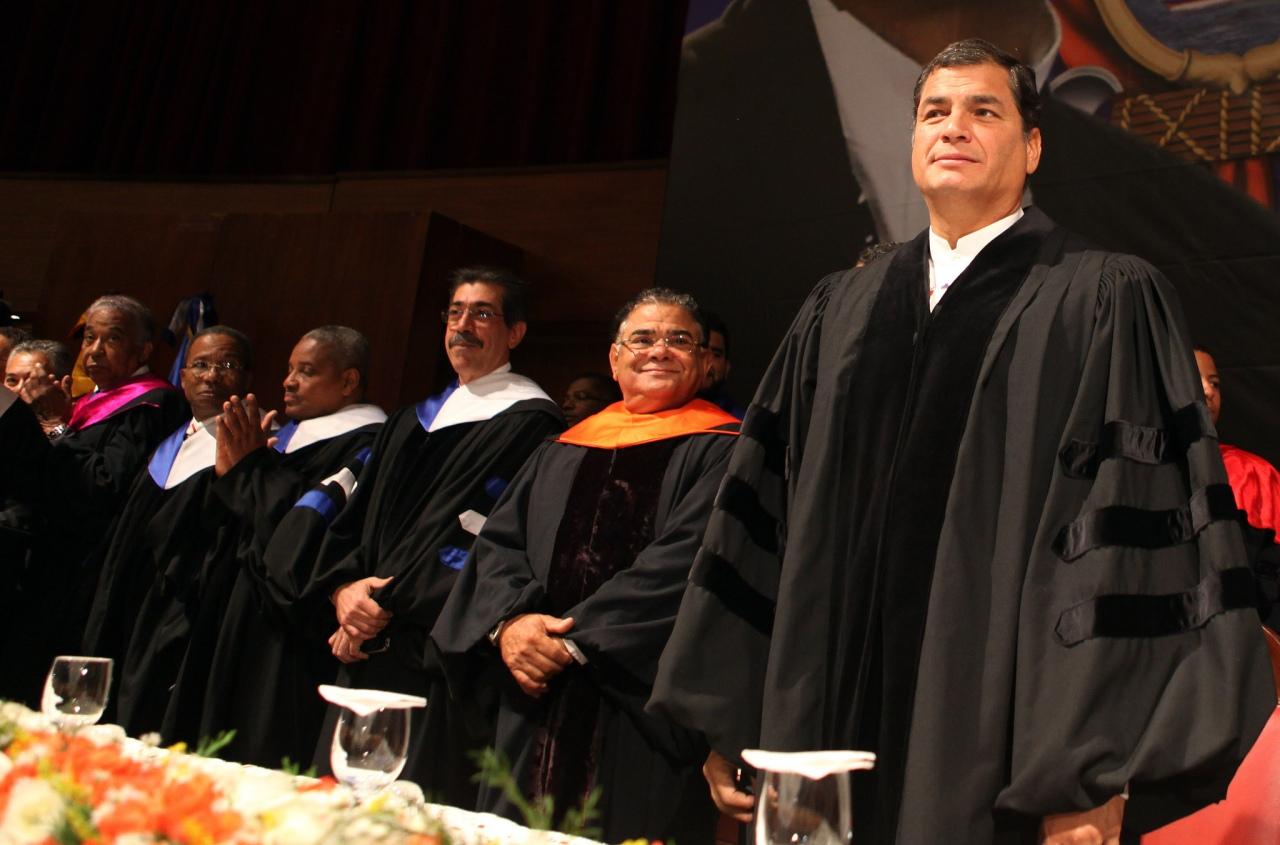 Correa en la Universidad Autónoma de Santo Domingo